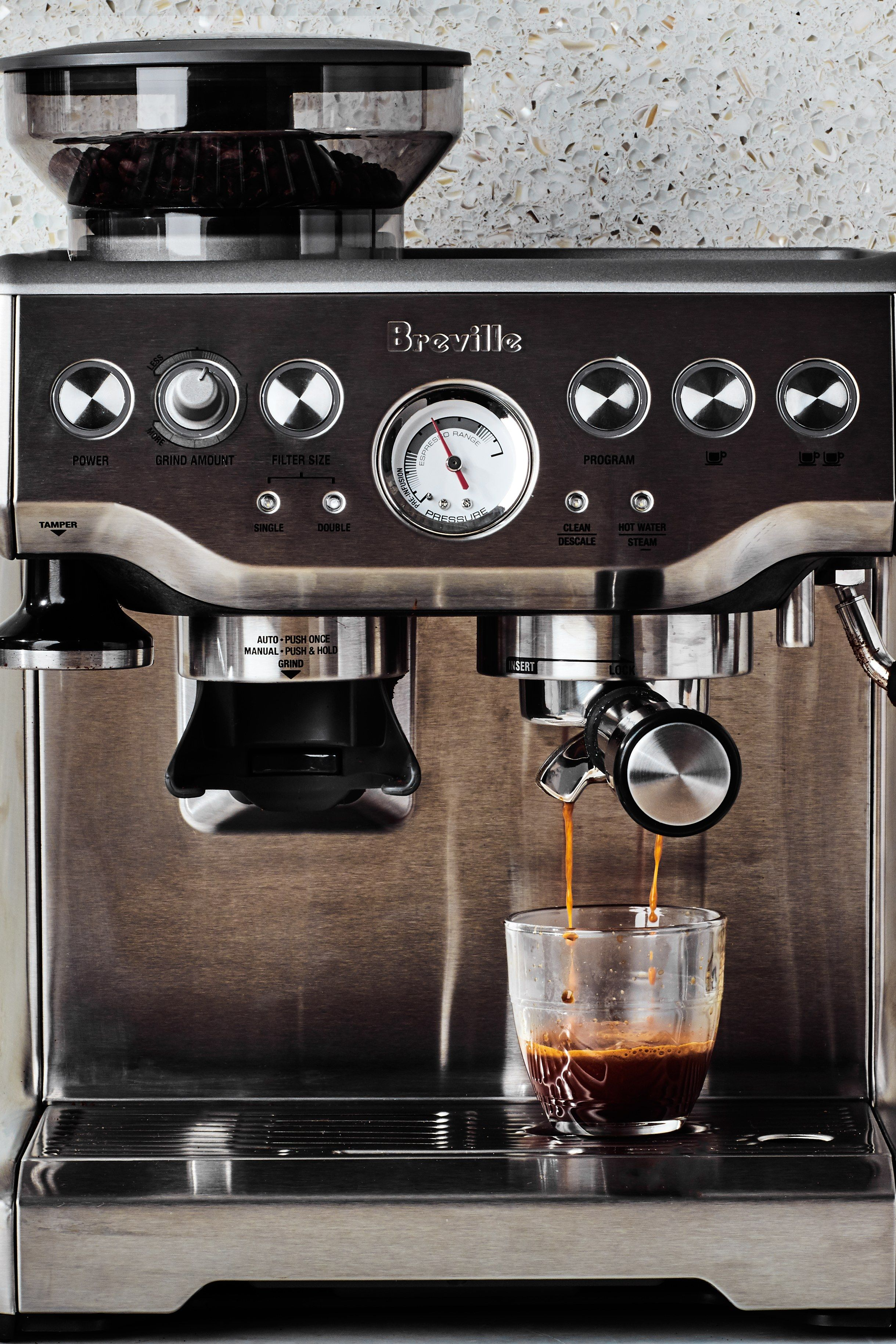 An espresso machine can put coffee shop quality espresso