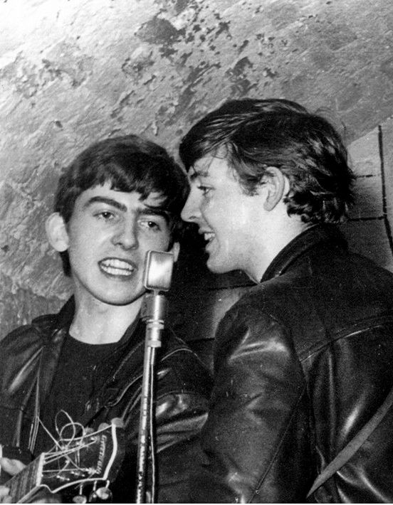 George Harrison and Paul McCartney (Cavern)