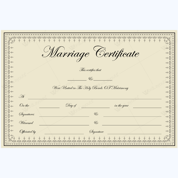 Marriage Certificate (1828 BRW)