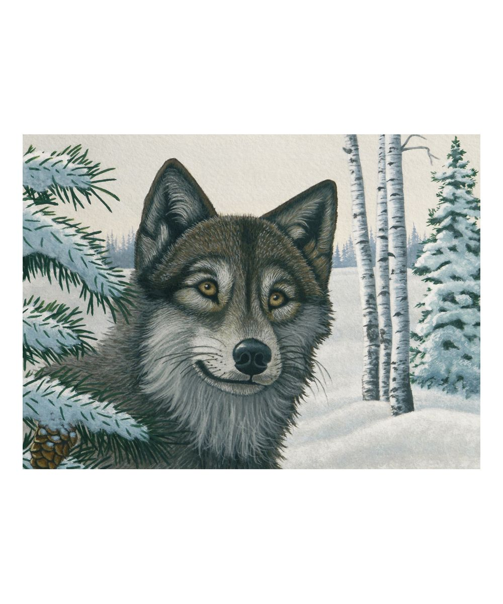 Snow Wolf Paint By Numbers Wall Art Set