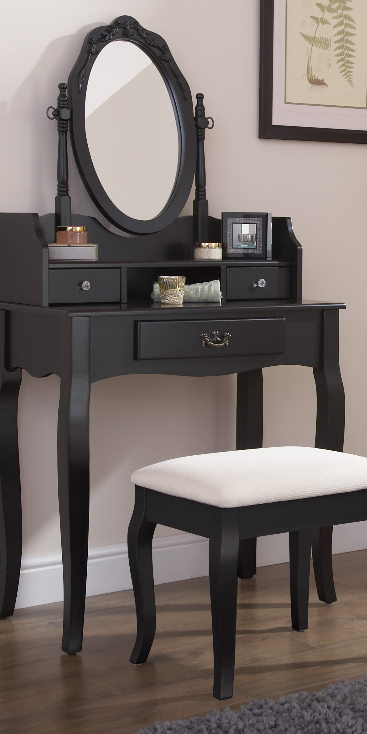 Best Antique Style Dressing Table With Large Drawer And Two 400 x 300