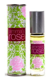 I am obsessed with this essential oil blend. rose essential oil and sandalwood. Rose has the highest vibration of any plant- heart opening and grounding <3