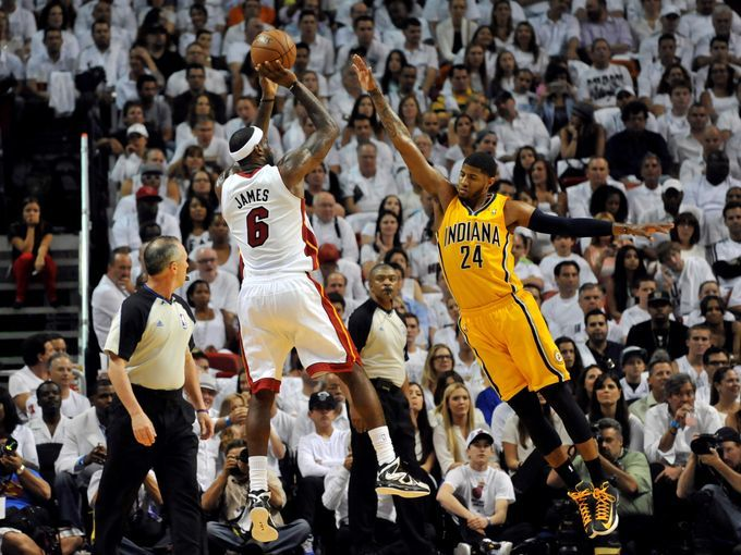 2013 Nba Eastern Conference Finals Heat Vs Pacers Lebron James Miami Heat Nba Eastern Conference Nba