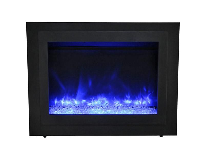 Sierra Flame Flush Mount 34 Inch Electric Fireplace Insert In