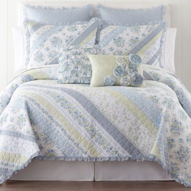 Home Expressionsâ?¢ Blossom Quilt & Accessories found at @JCPenney ... : jcpenny quilts - Adamdwight.com