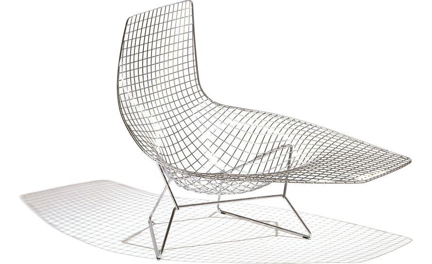 Bertoia Asymmetric Chaise Lounge Modern Outdoor Chaise Lounges Modern Outdoor Chaise Bertoia