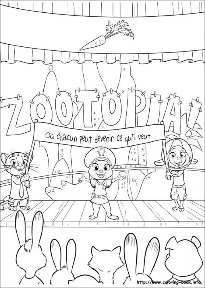 Printable Disney Zootopia coloring pages for older kids 7 Disney