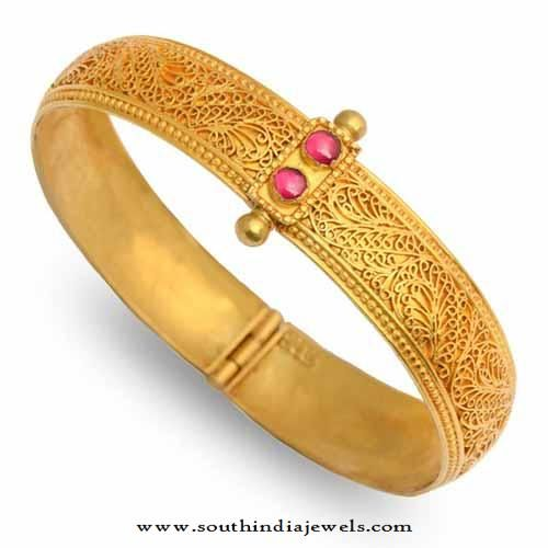22k gold adjustable antique bangle bangles gold 89478