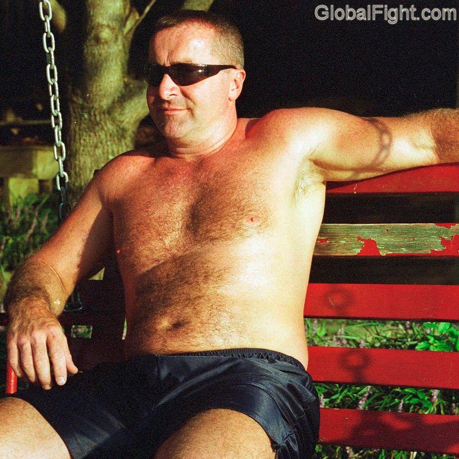 gay man beach pier