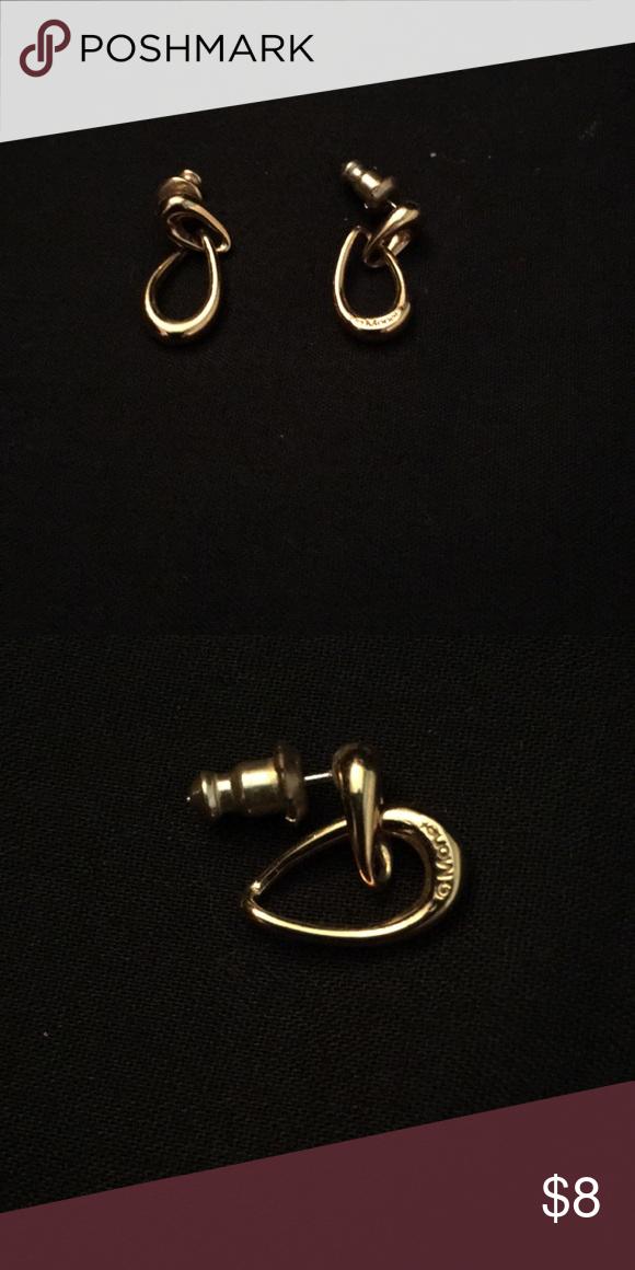 Monet Earrings Gold Tone 7 8 Jewelry