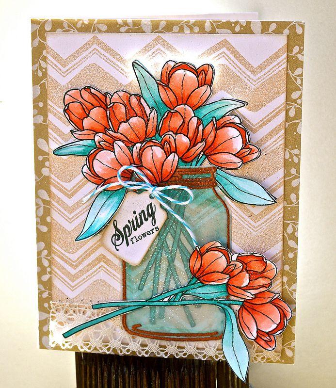 dsc0019  mason jar cards floral cards tulips card