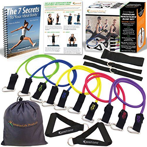 BalanceFrom P16 Heavy Duty Premium Resistance Band Kit with Safe Door Anchor//Ankle Strap//Carrying Case
