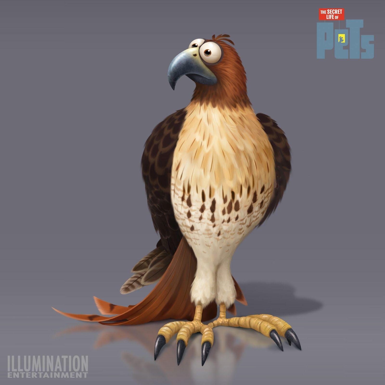 Pets Chars Hawk Lg Secret Life Of Pets Eagle Cartoon Animal