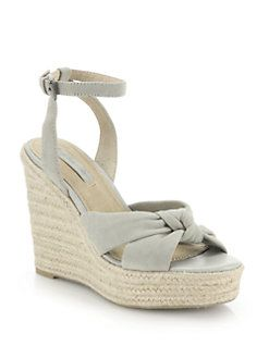 8ff7b7f2d3f Frye - Charlotte Suede Ankle-Twist Espadrille Wedge Sandals   Wedges ...