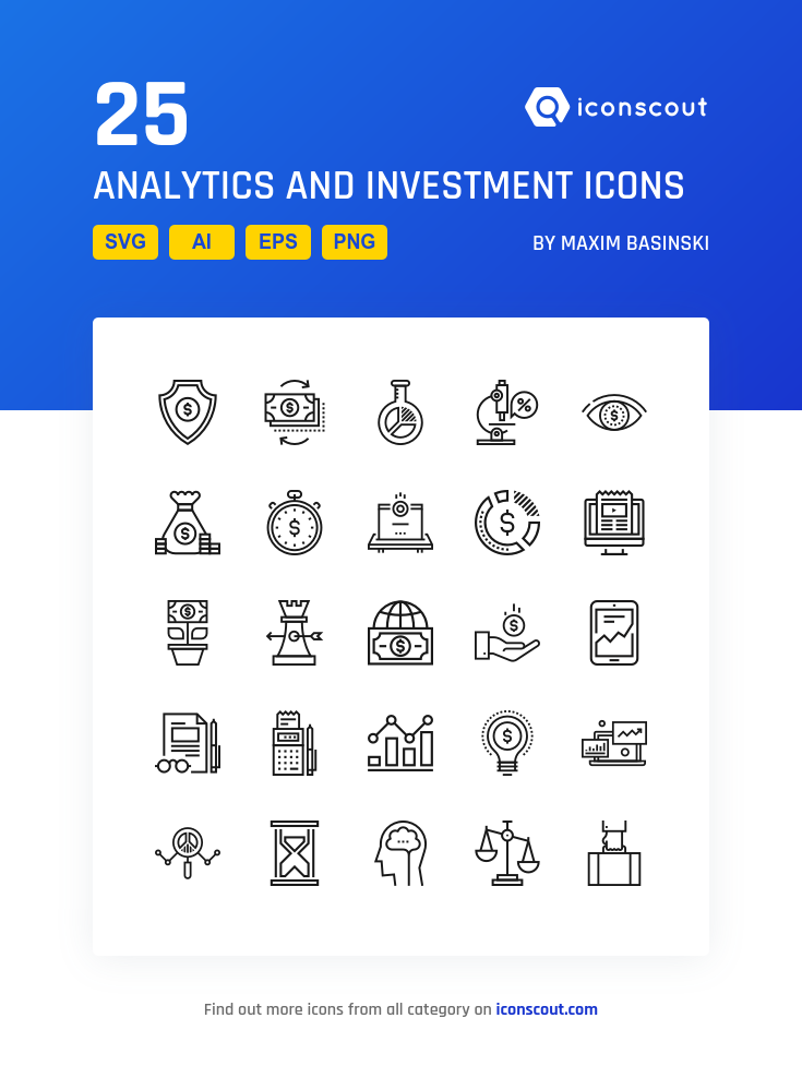 Download Analytics And Investment Icon Pack Available In Svg Png Eps Ai Icon Fonts Icon Pack Icon Powerpoint Template Free