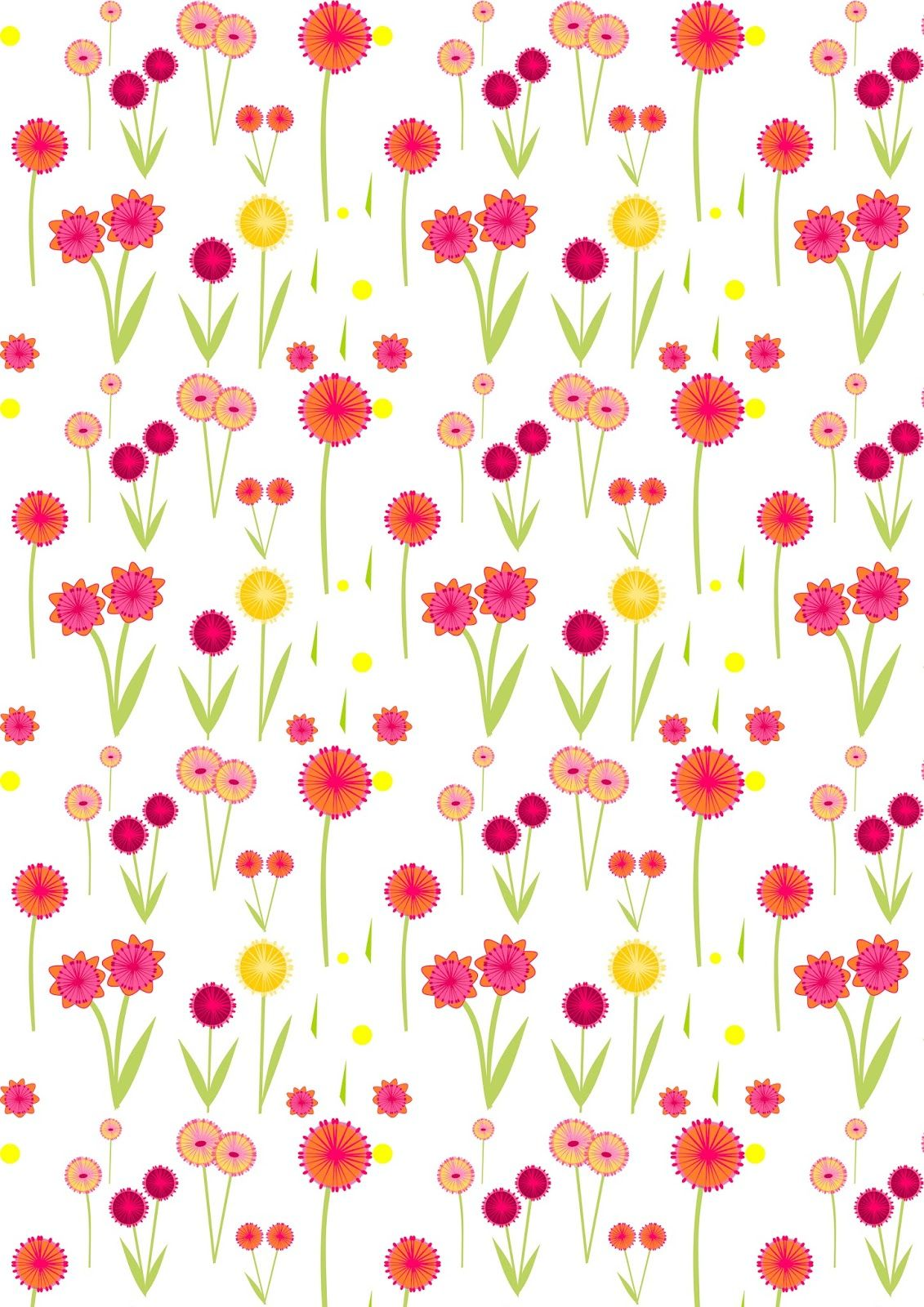 Free Digital Flower Scrapbooking Paper Ausdruckbares