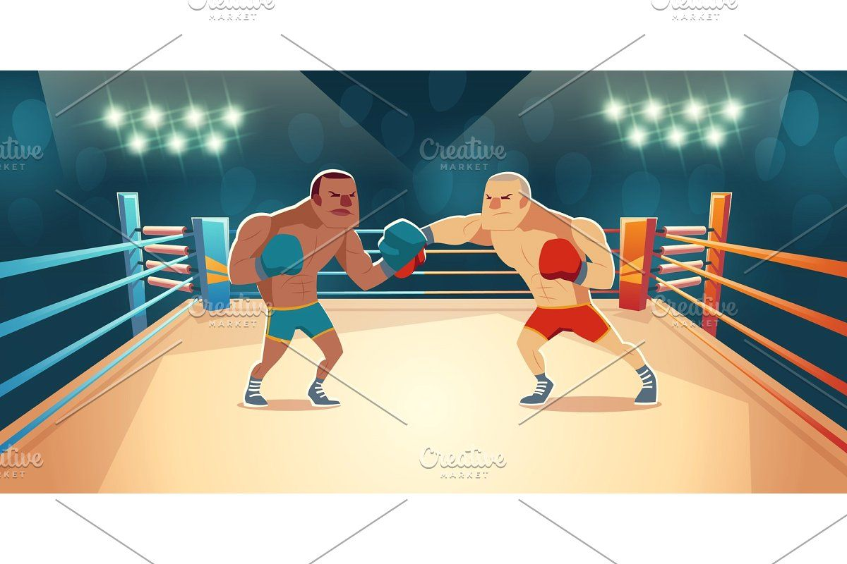 Boxers Fighting On Ring Opponents In 2020 Boxer Dangerous Sports Fight