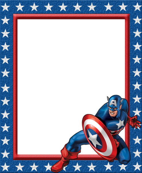 kids transparent frame with captain america captain america birthday captain america party captain america printables kids transparent frame with captain