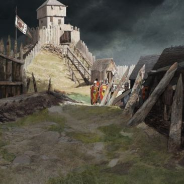 Newcastle Norman Motte And Bailey Fort In 2020 Motte And Bailey Castle Medieval Castle Castle Art