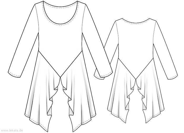 schnittmuster tunika bluse kostenlos