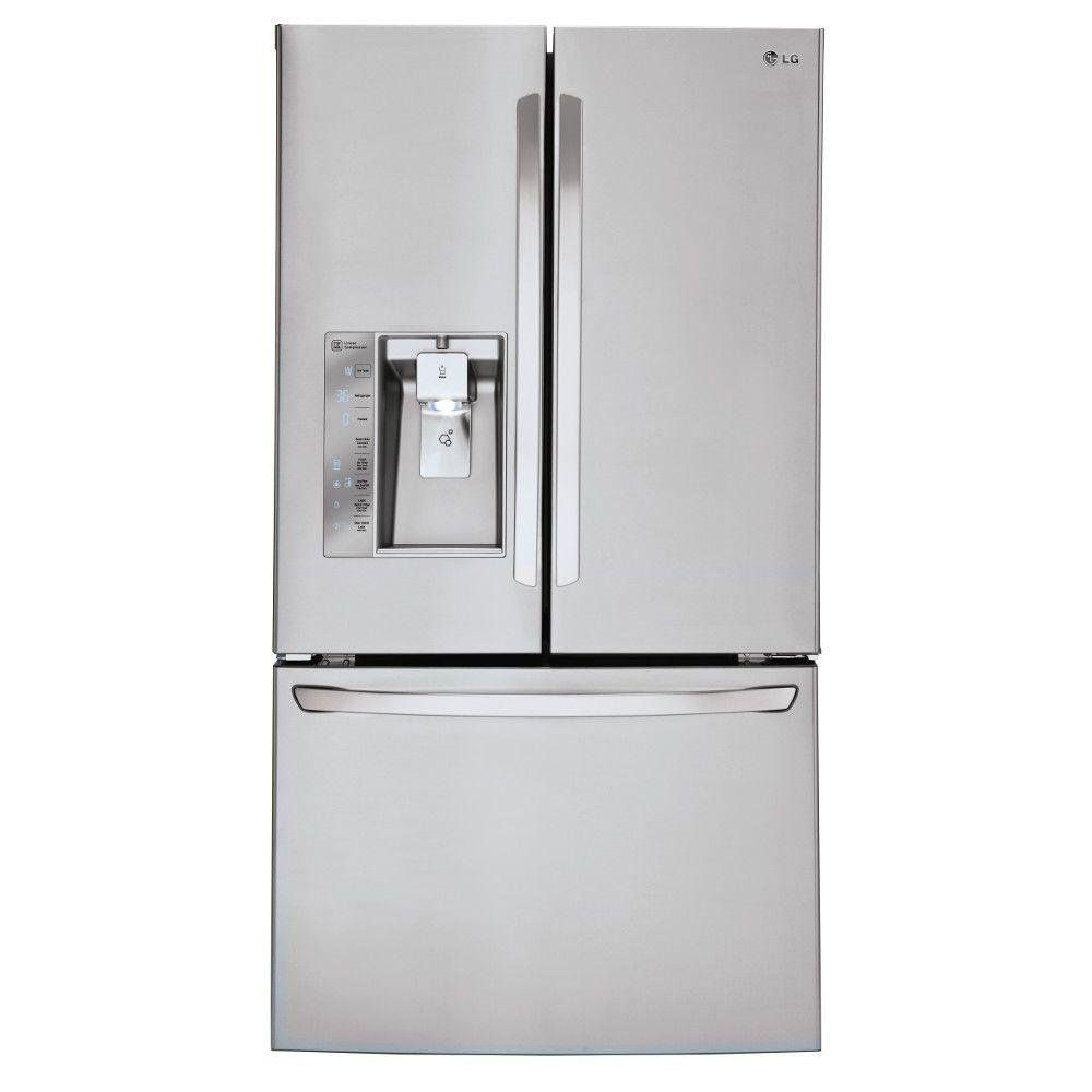 Lg 29 8 Cu Ft French Door Refrigerator 36 Inch Stainless Steel