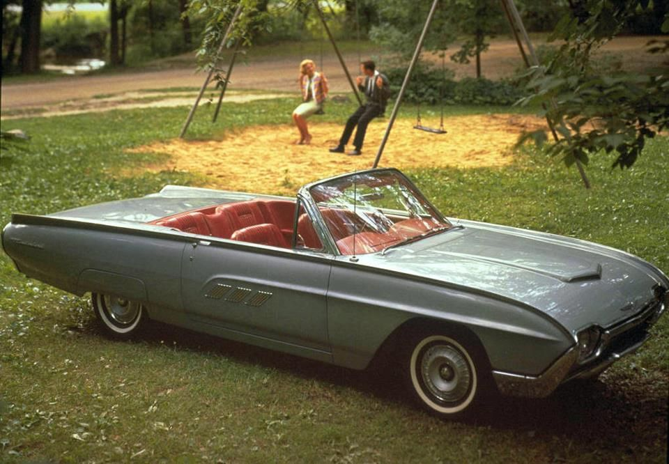 1963 Ford Thunderbird Convertible In Silver Mink Ford Thunderbird Car Classic Car Insurance