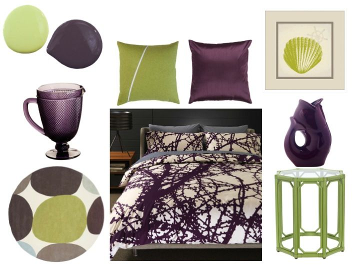 Bring Bold Color Home By Pairing Rich Plum Purple With Bright Lime Green!  Check Out Our Latest Color Combo Crush And Get A Few Decorating Ideas For  Your Own ...