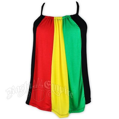 Red yellow green rasta dress shirt