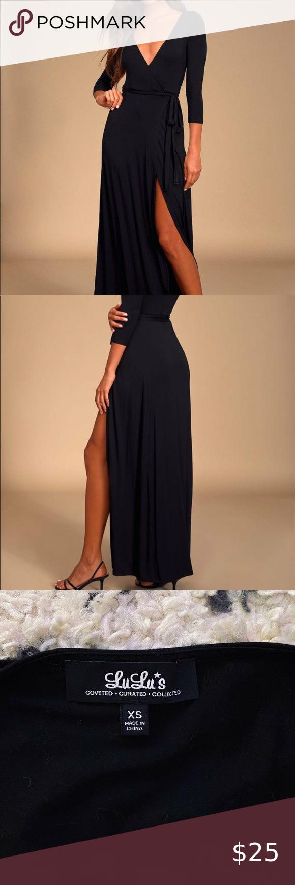 Garden District Black Wrap Maxi Dress Maxi Wrap Dress Maxi Dress Lulu Dresses [ 1740 x 580 Pixel ]