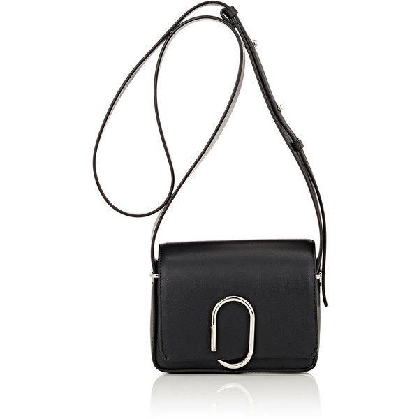 3.1 Phillip Lim Women's Alix Mini-Crossbody (584.970 CLP) ❤ liked on Polyvore featuring bags, handbags, shoulder bags, black, flap handbags, shoulder strap handbags, miniature purse, mini handbags and mini shoulder bag
