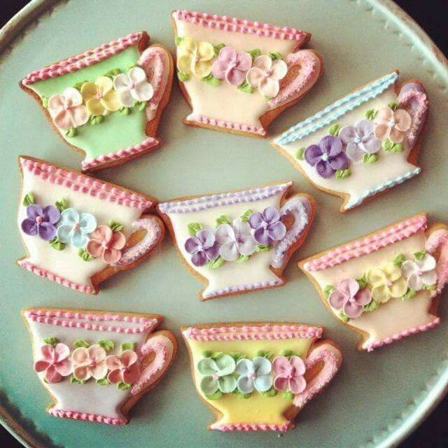 Lovely decorated iced biscuits.