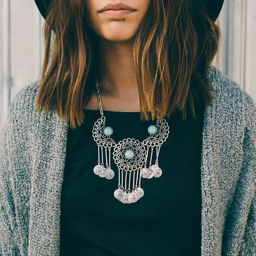 Coined Cache Necklace Nectar Clothing Affordable Fashion Women