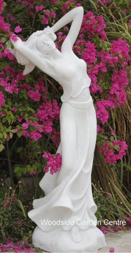 extra large poppy female marble resin garden statue woodside garden centre pots to inspire - Resin Garden Statues