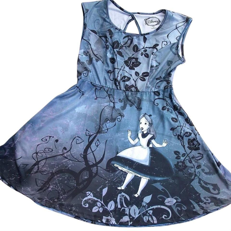 Disney Grey Alice In Wonderland Hot Topic Short Casual Dress Size 8 (M)
