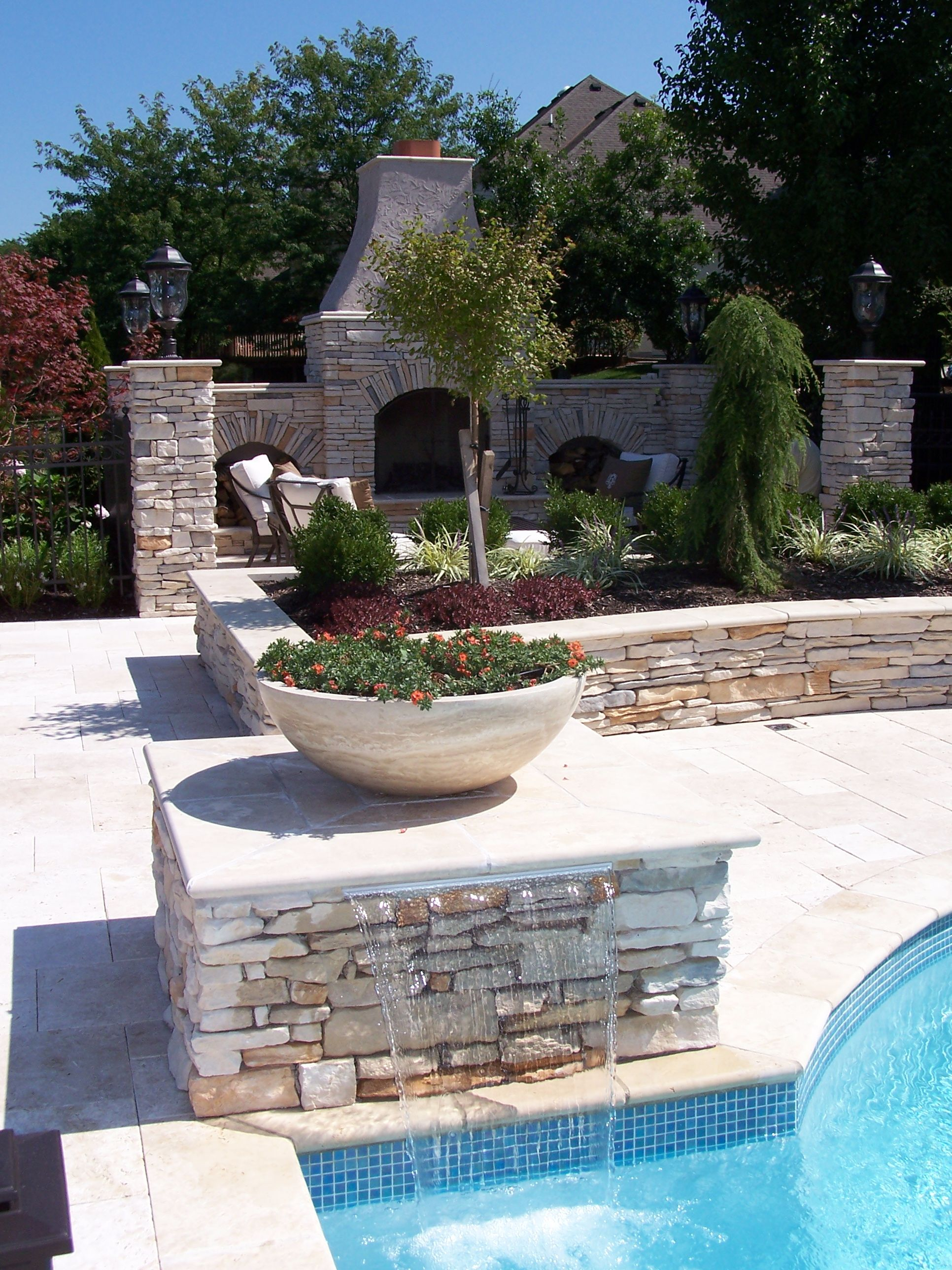 Pool Landscaping Backyard Pool Pool Planters
