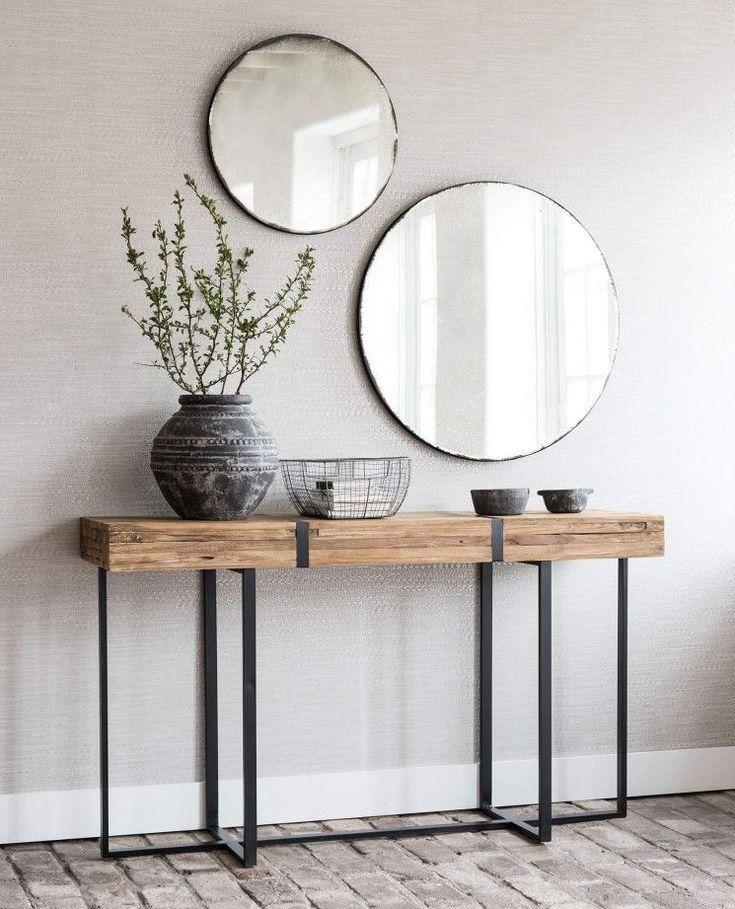 Deze stoere teakhouten sidetable Stoßfängerhöhe mit einem Rahmen aus Metall. Plaat – Home Decor | Dessertpin.com