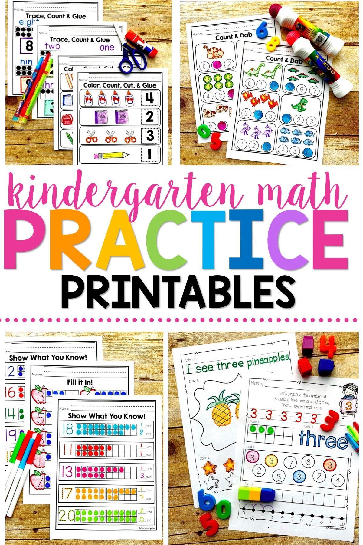 Number Sense Printables Bundle Pack Kindergarten Math Practice Miss Kindergarten Kindergarten Math Activities [ 1800 x 1200 Pixel ]