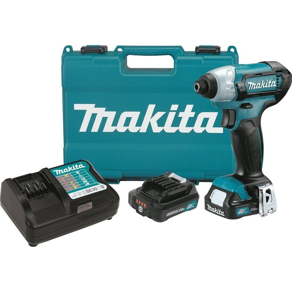 Makita 12 Volt Max Cxt Lithium Ion 1 4 In Cordless Impact Driver Kit With 2 Batteries 2 0ah Charger Ha Taladro Inalambrico Taladro Herramientas Electricas