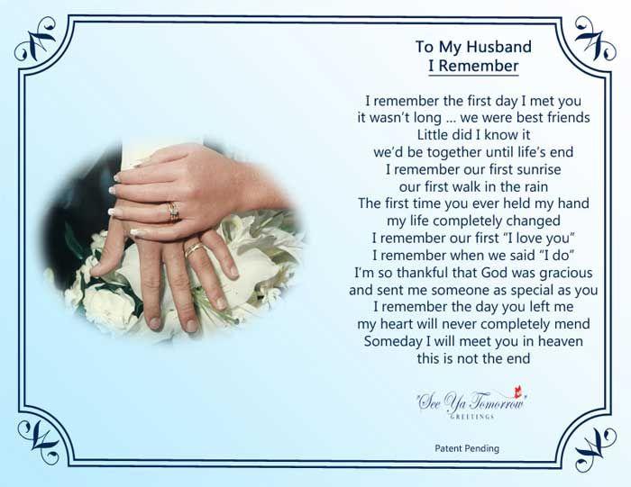 Heaven Anniversary Happy Husband Wedding Missing my