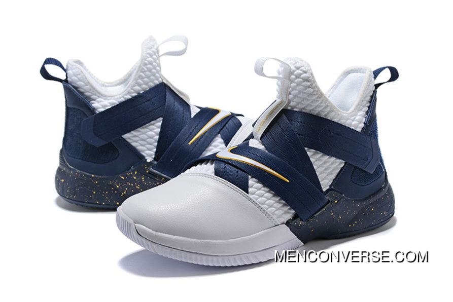 5a6bd7ca540 1931 12 Nike Lebron Soldier 12 White Upper Online