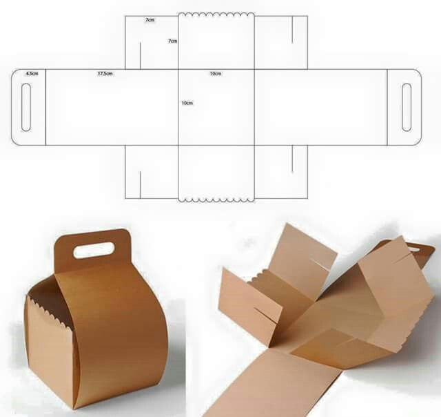Caja Box Packaging Templates Dielines Diy Gift Template