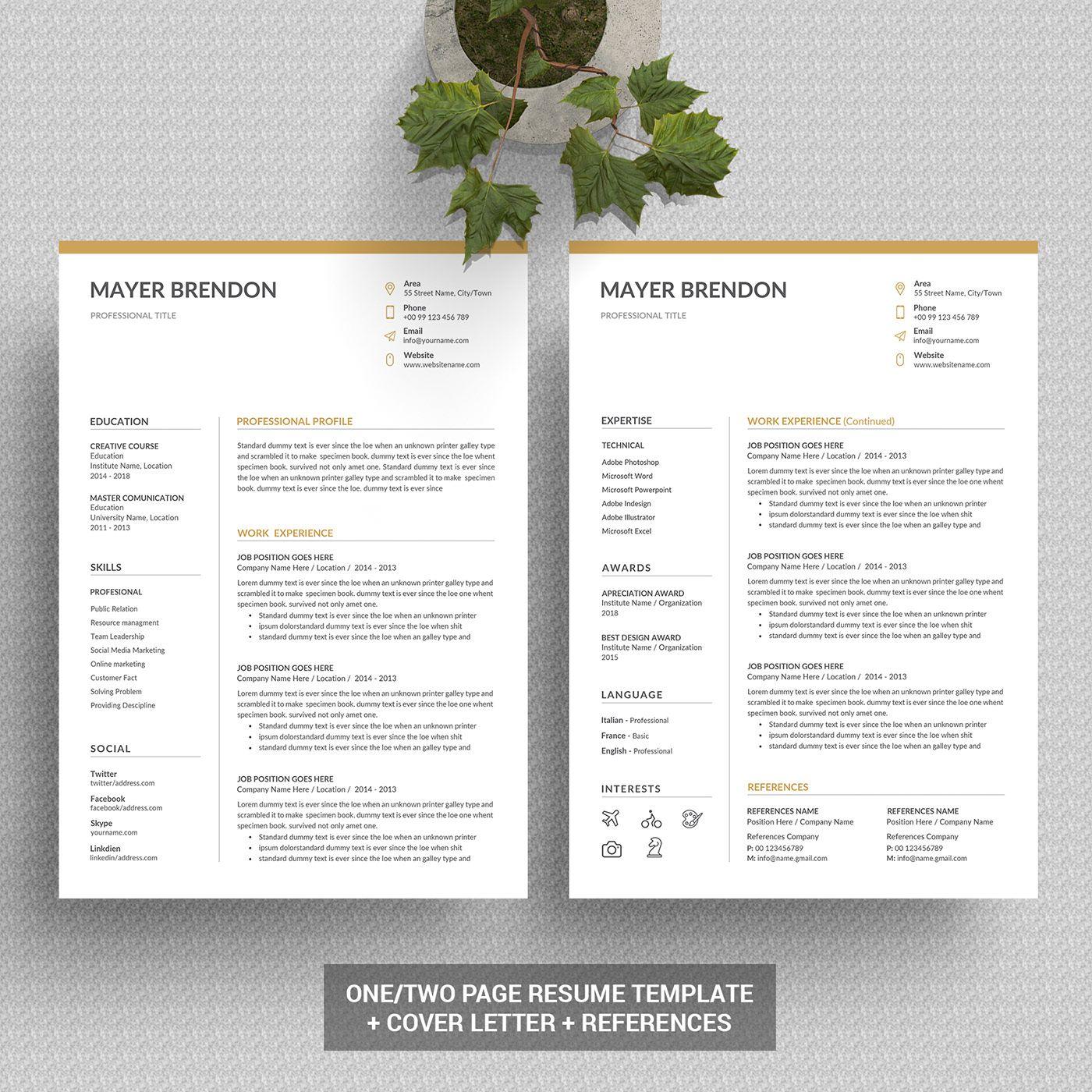 jpixel 55 on Behance Unique resume template, Resume
