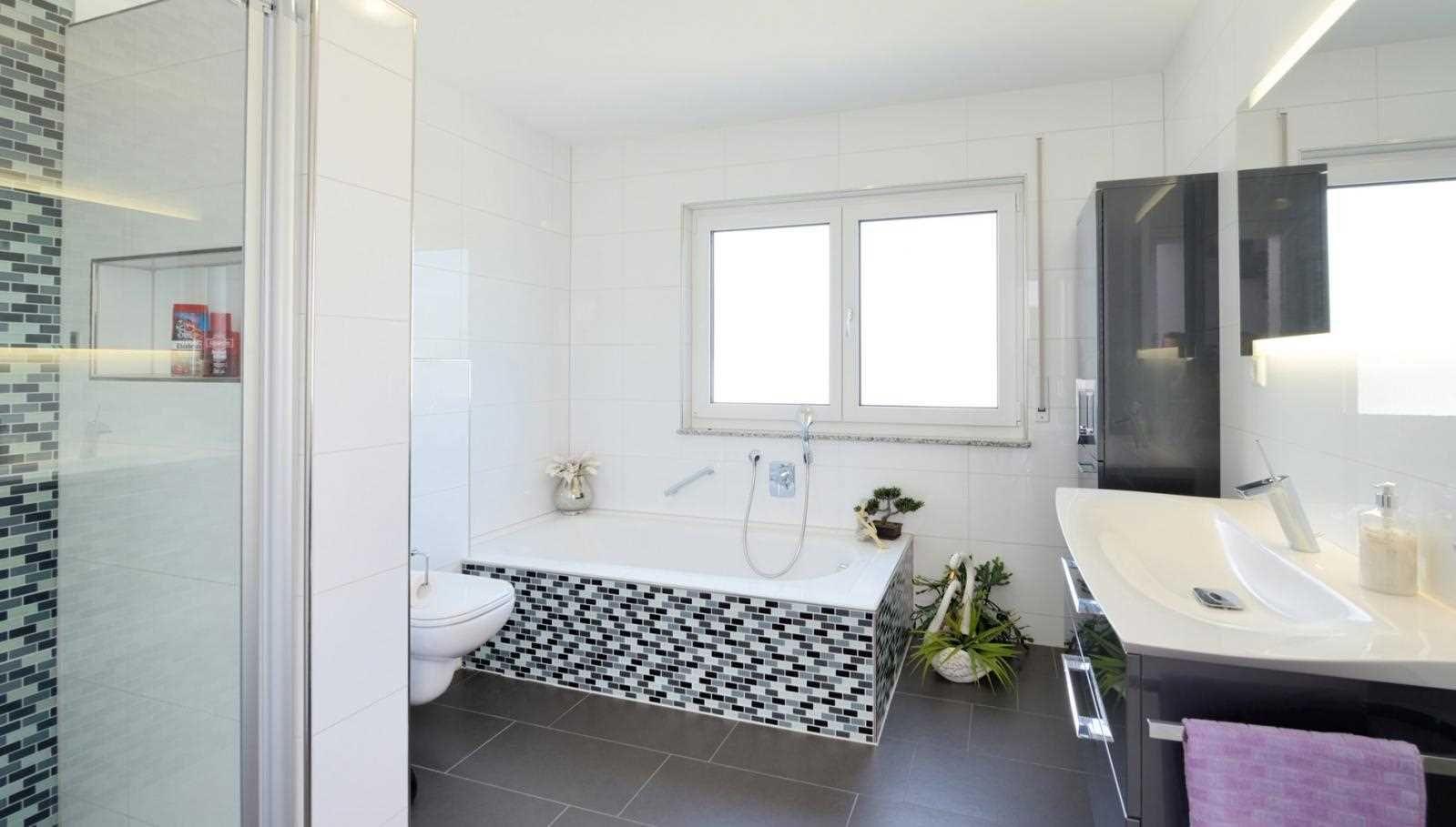 Muster Badezimmer ~ Muster schadet nie! badezimmer im haus kunz fertighaus weiss