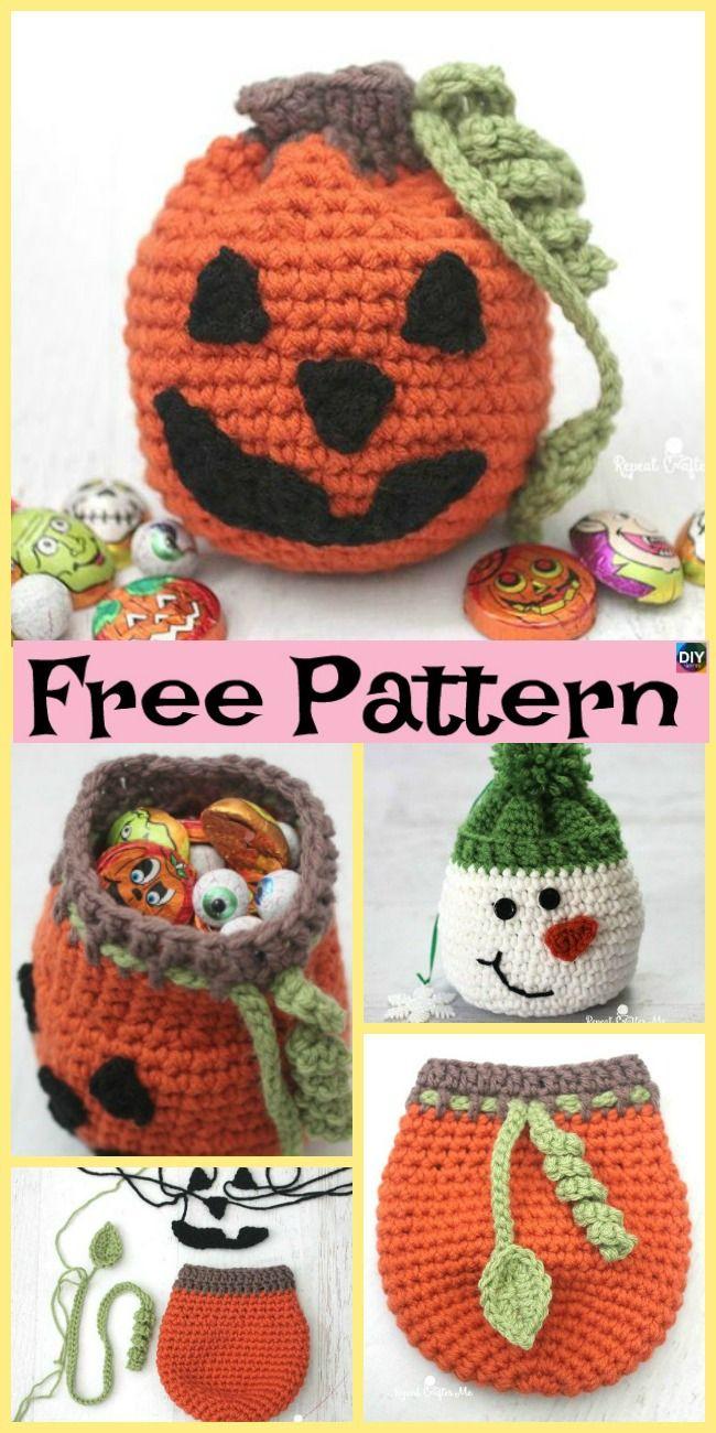 10+ Adorable Crochet Pumpkins - Free Patterns #halloween