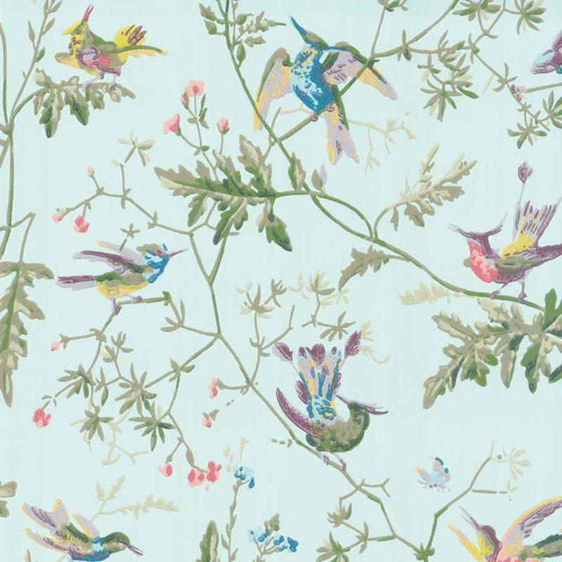 100/14069.CS Hummingbirds Blue MultiColour Cole & Son