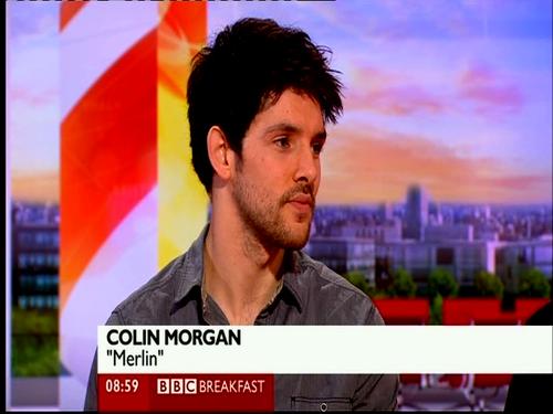Colin Morgan on BBC Breakfast :)