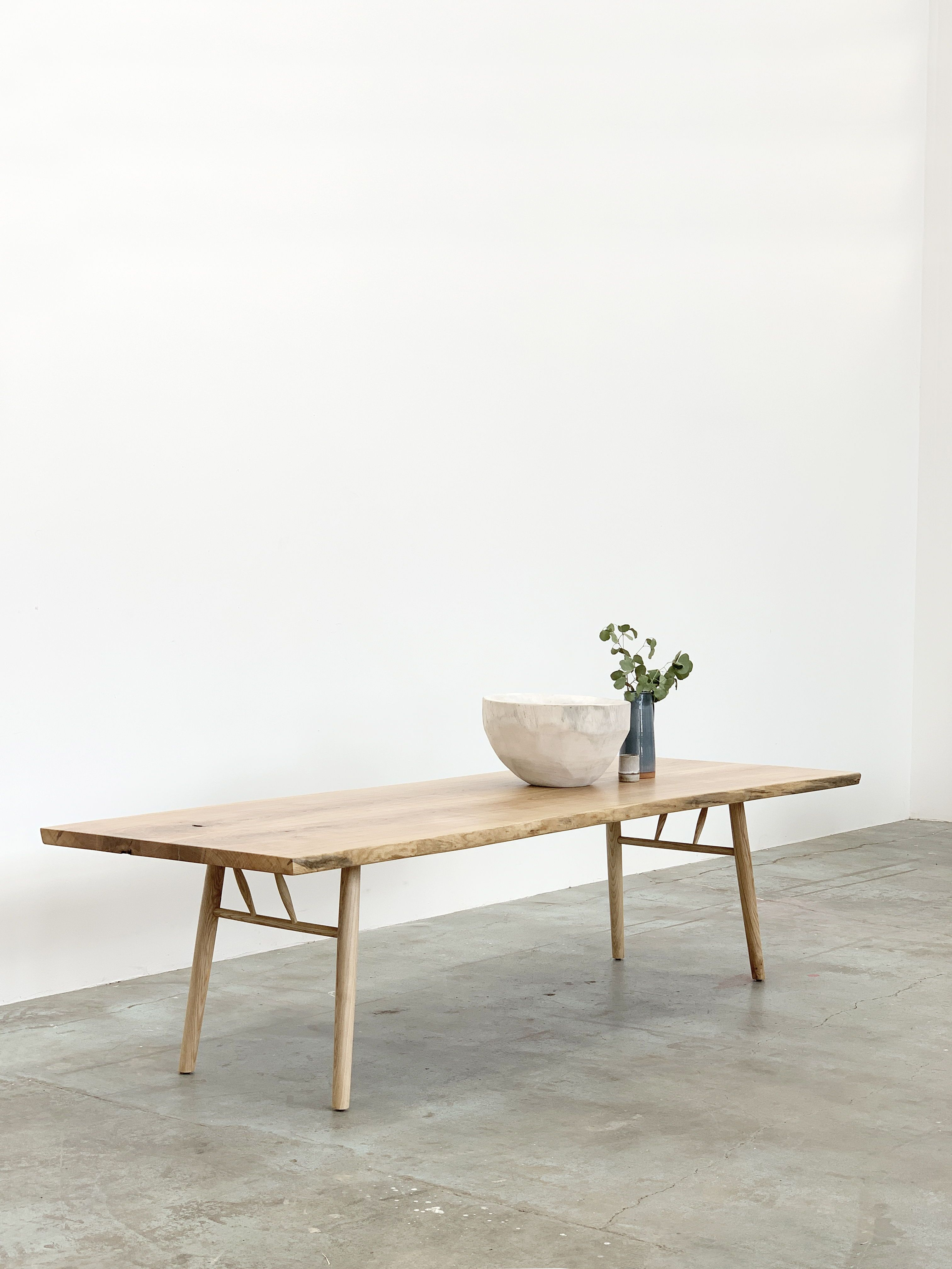Mars Live Edge Dining Table White Ash With Wood Legs Live Edge Dining Table Dining Table Ash Dining Tables [ 4032 x 3024 Pixel ]