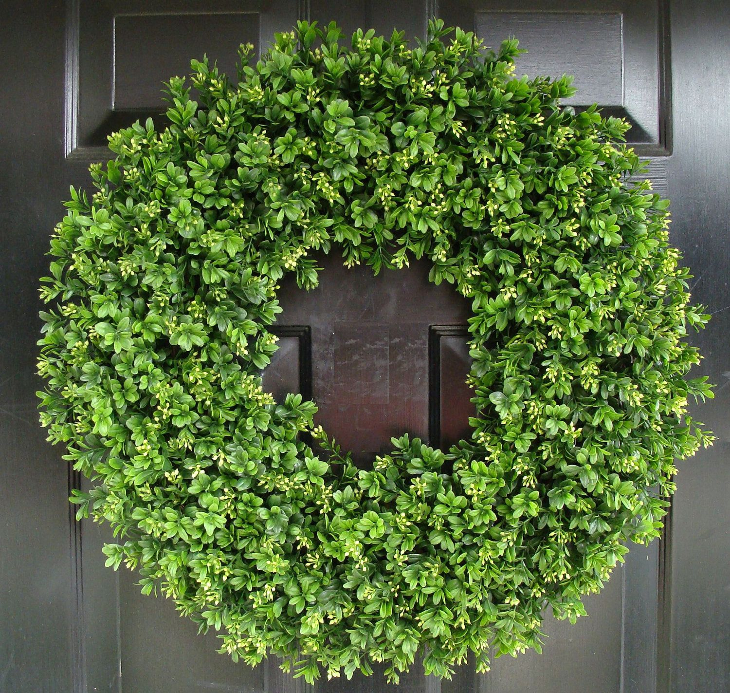 Year Round Wreath  14 Inch Artificial Boxwood Wreath  Large Front Door  Wreath  Sizes 30 Inch Available.