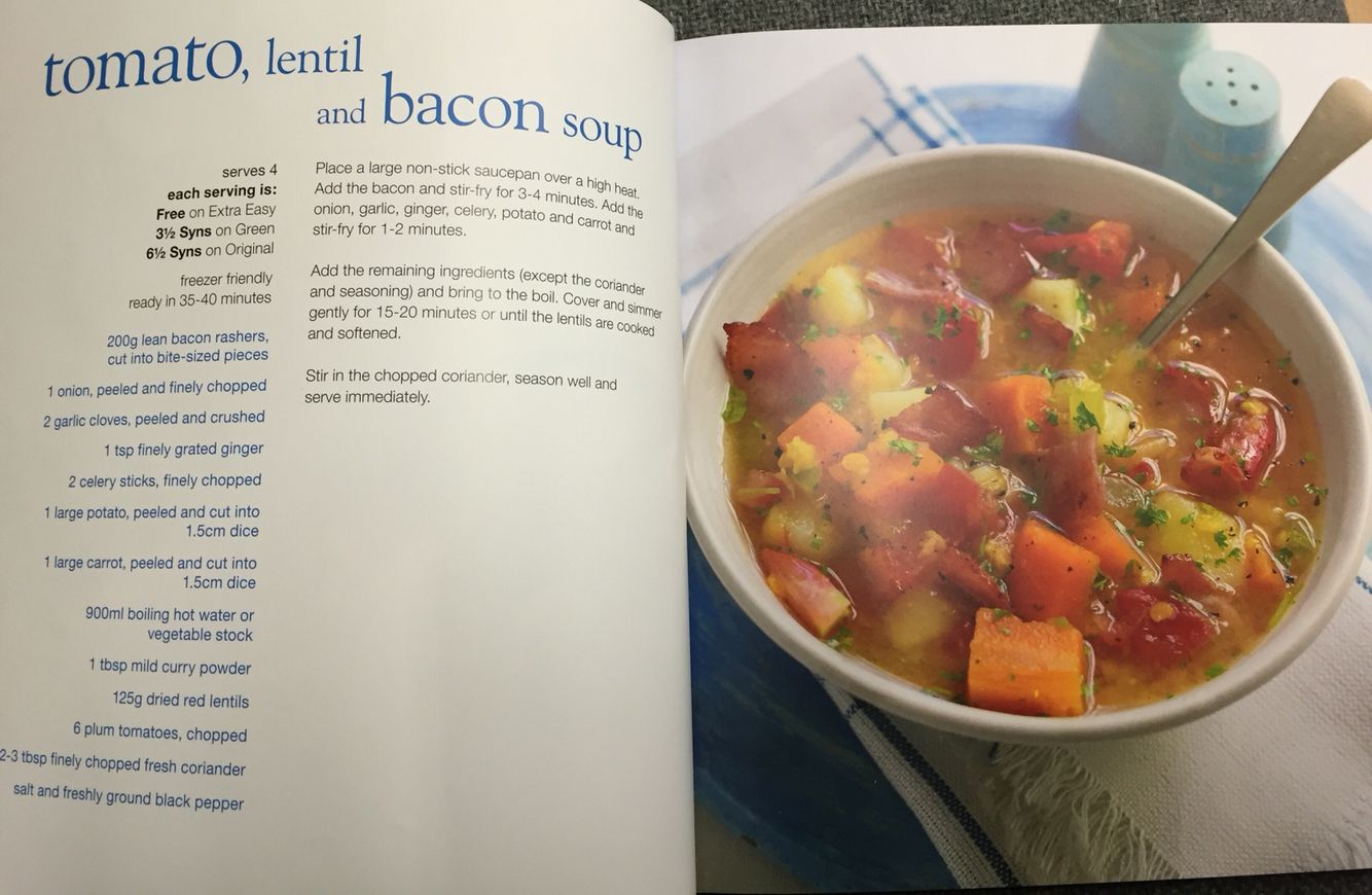 Slimming world tomato bacon and lentil soup