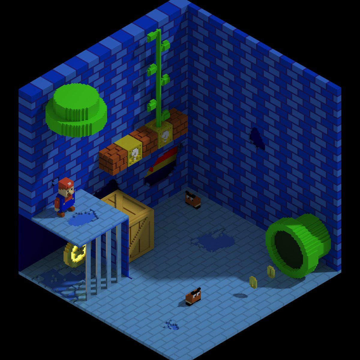 1) #magicavoxel hashtag on Twitter | Super Mario | Hashtags